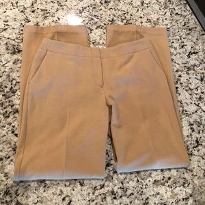 Chicos Flat Front Dress Pants Tan Business Casual